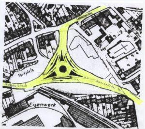 IFBV Vorschlag: Kreisverkehr Eisenbahnbrücke
